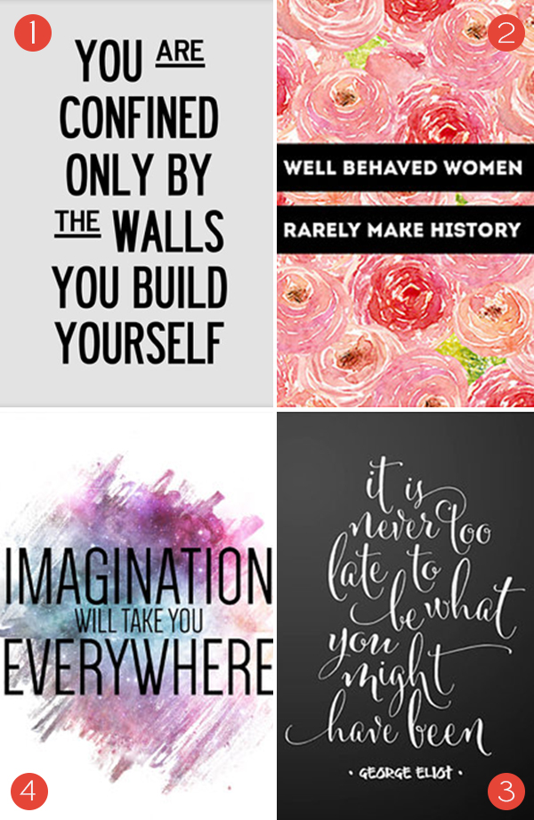 Motivational Prints from Etsy