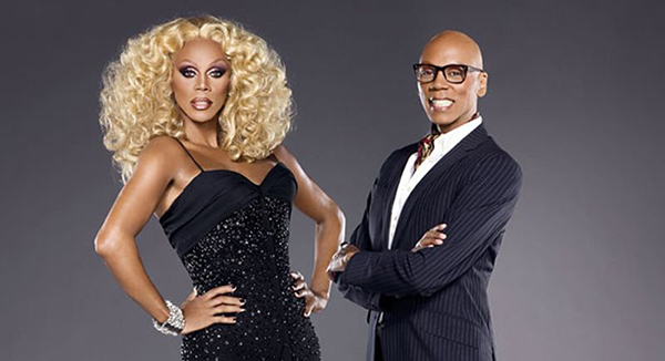 RuPaul in and out of drag