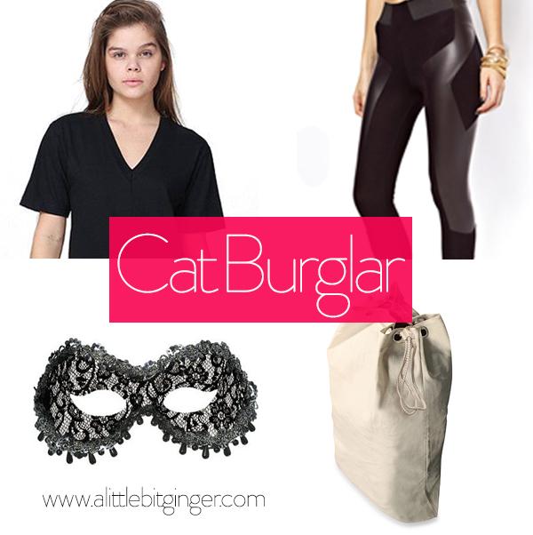 Cat Burglar Costume Pieces