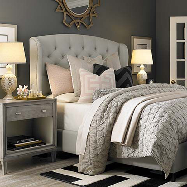 Monochrome gray bedroom