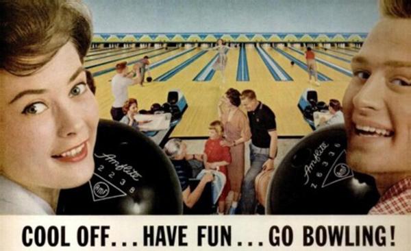 Vintage bowling ad